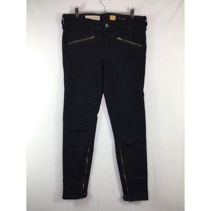 Pilcro and the Letterpress Jeans Black Moto Zipper